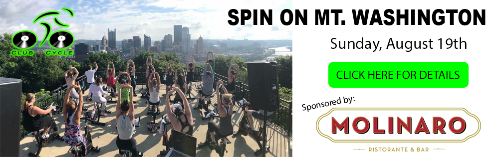 Spin with Club Cycle on Mt. Washington in Pittsburgh!