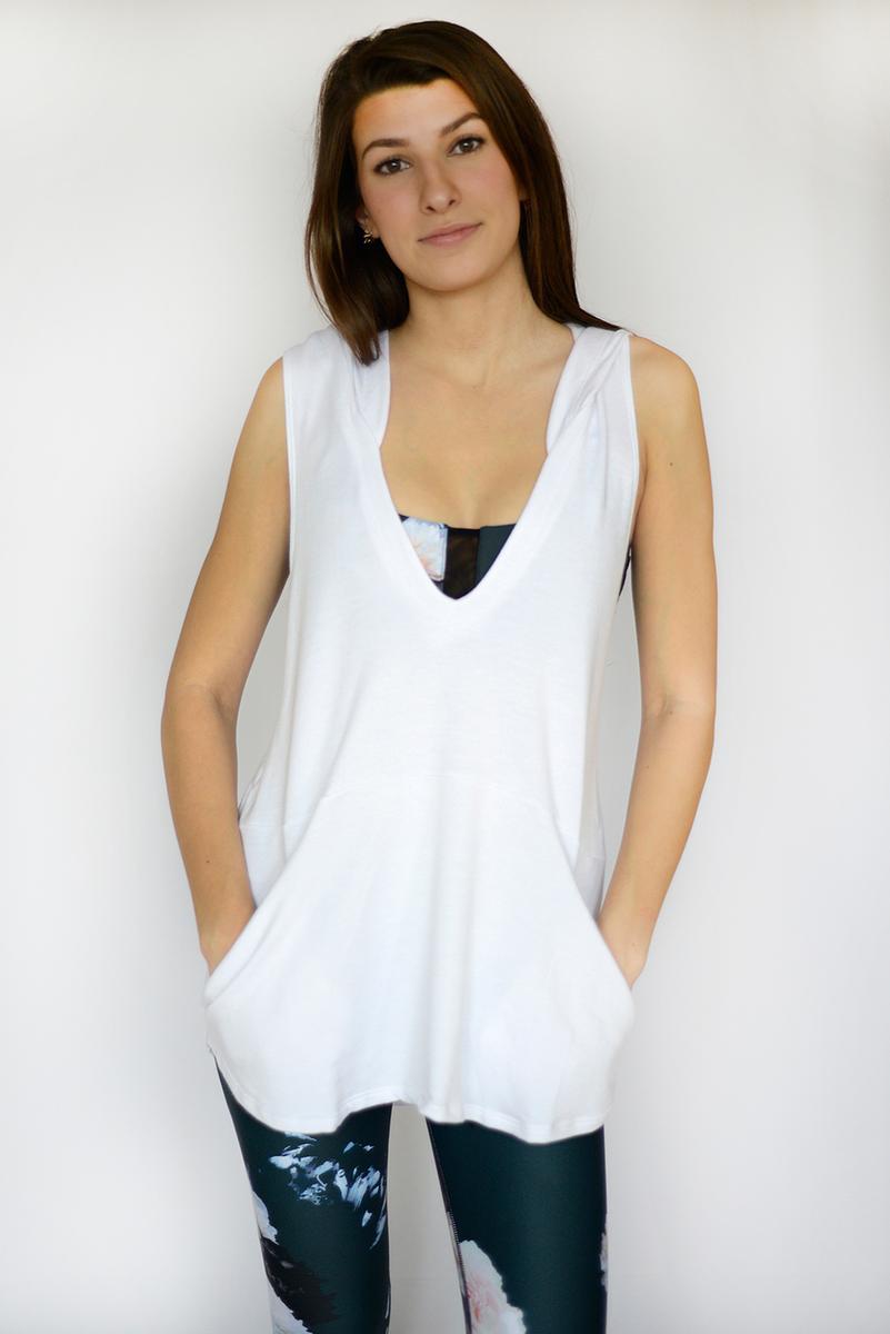 DYI Slouchy Vest White
