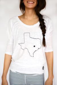 Bobi 3/4 Texas Dolman White