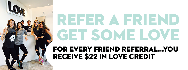 Love Customer Referral Program Love Cycling Studio