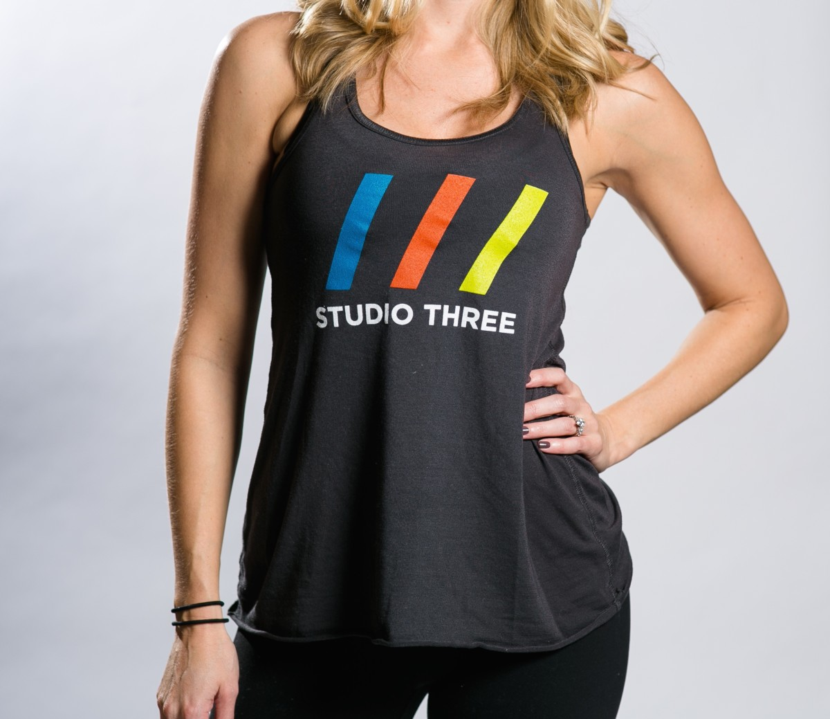 Tri Colored /// Flowy Racerback Tank