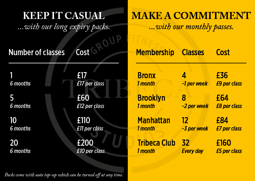 Join Tribeca from £36 per month