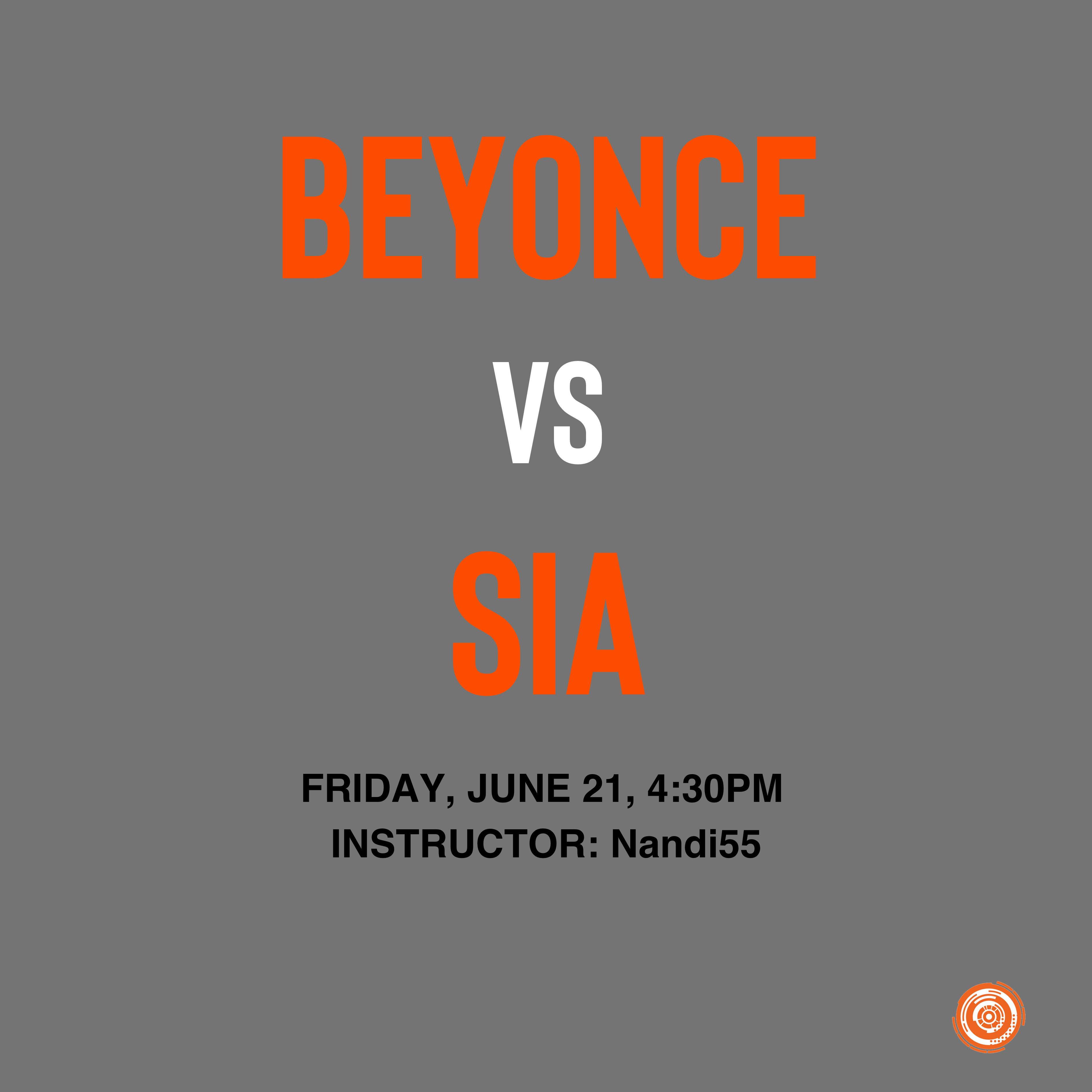 Beyonce vs Sia