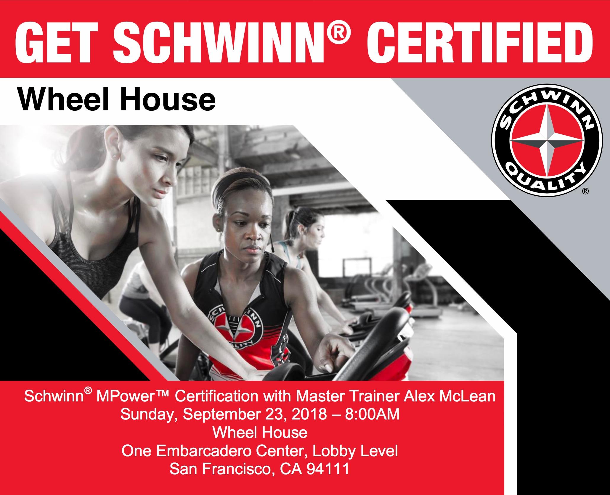 Schwinn® MPower TM Certification with Master Trainer Alex McLean