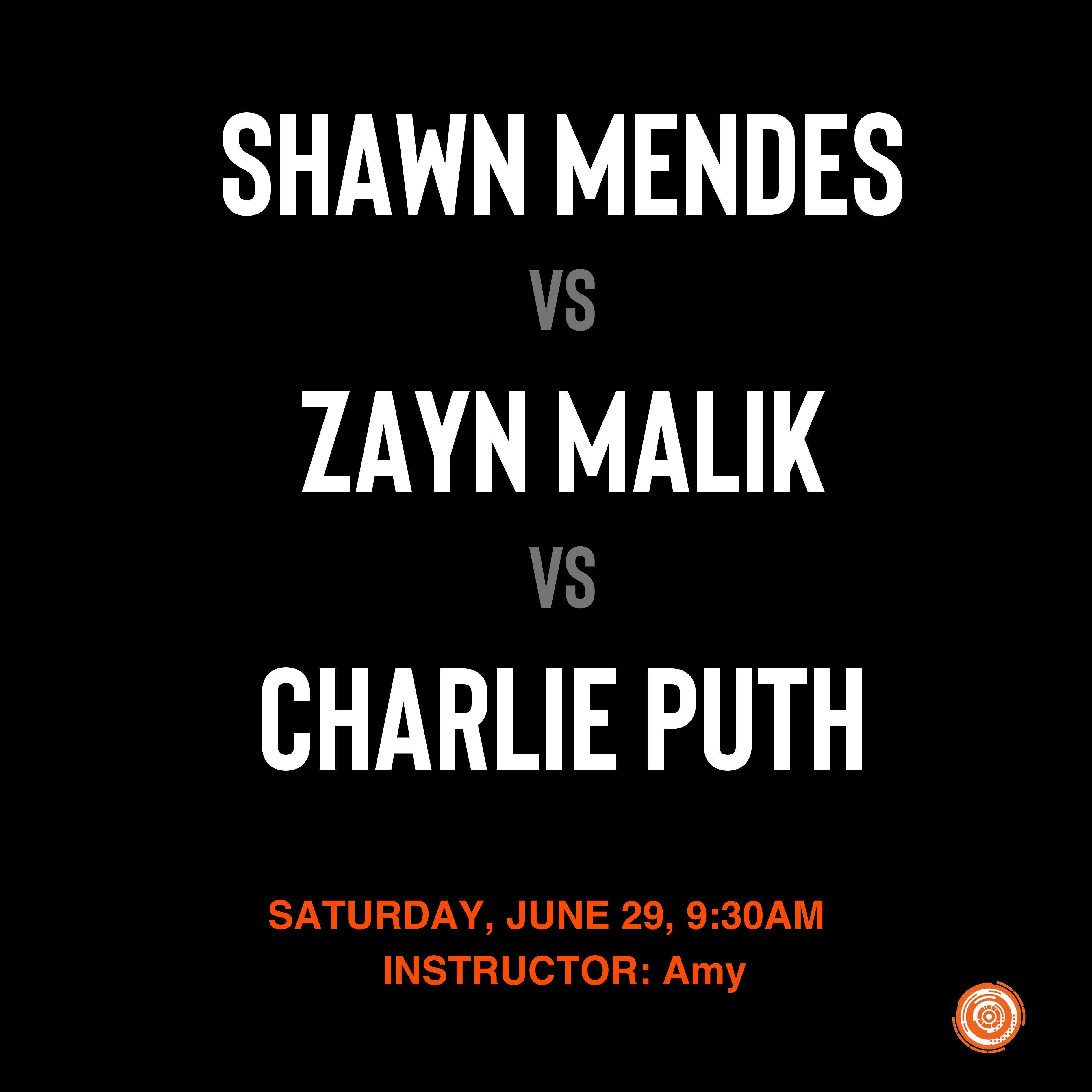 Shawn Mendes vs Zayn Malik vs Charlie Puth