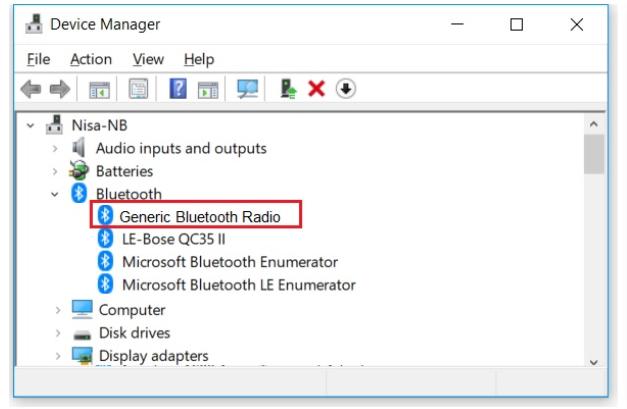 generic bluetooth adapter driver windows 10