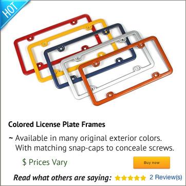 Corvette License Plate Frames