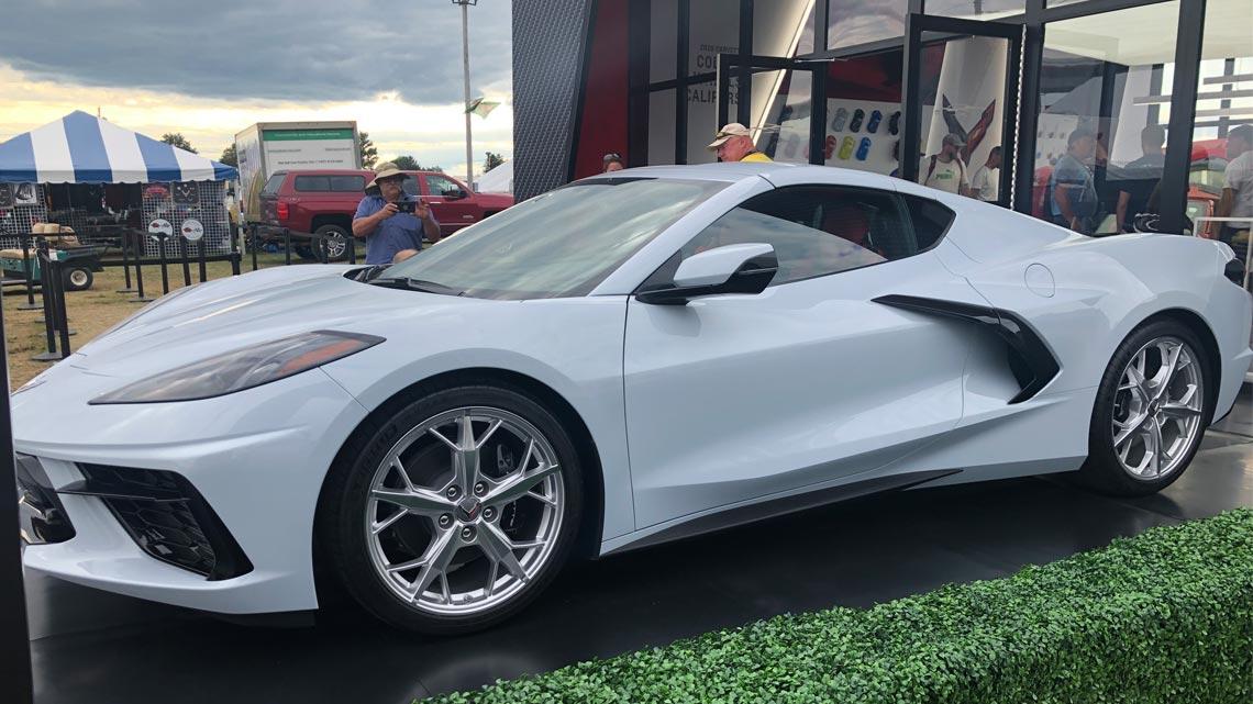 C8 Corvette Next Generation StayDri Performance Hat White