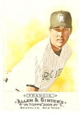 Jeff Francis #313 2009 Topps Allen and Ginter Main Set