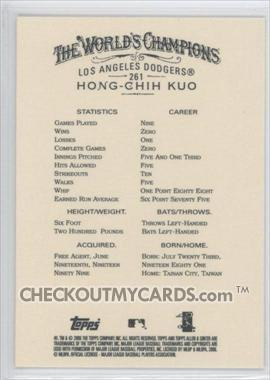 Hong-Chih Kuo  RC #261 2006 Topps Allen and Ginter Main Set