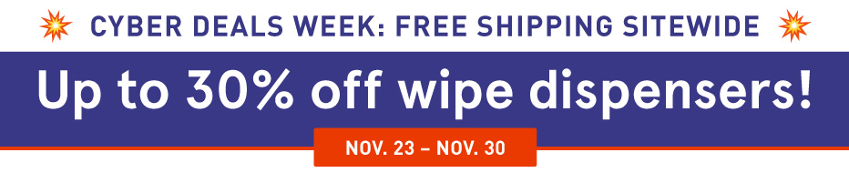 Save up to 30% off Wipe Dispensers!