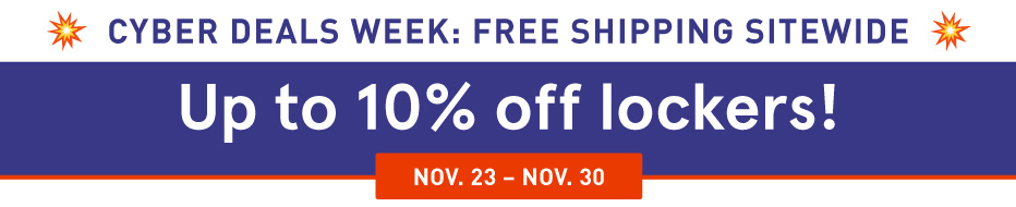Up to 10% off Lockers
