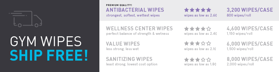Antibacterial Gym Wipes