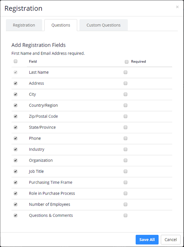 Webinar Registration Customization Zoom Help Center