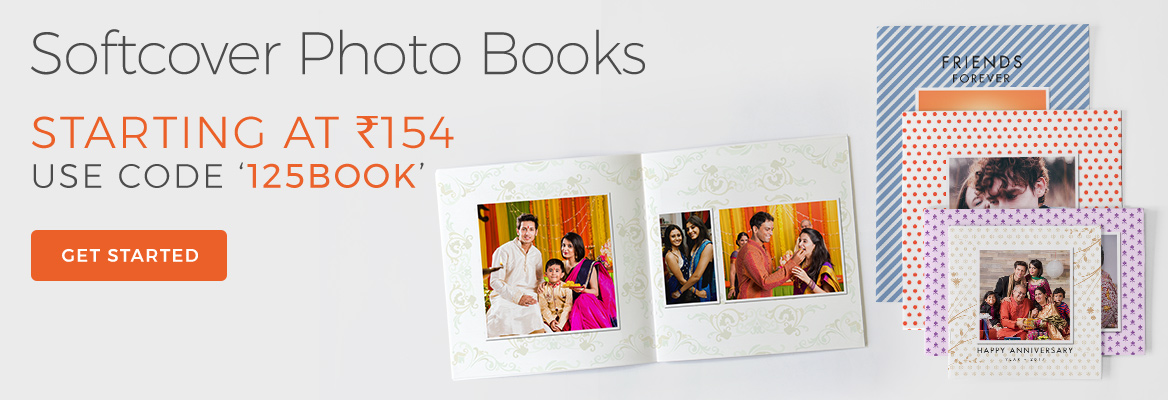 Save upto 45% on all Softcover Photo Books. Use code '125BOOK' during checkout to avail discount.