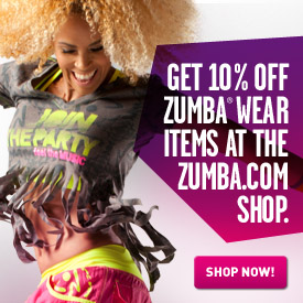 Get 10% off Zumba wear items in the Zumba Shop