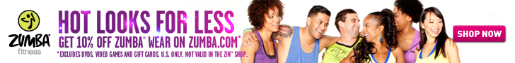 Use Affiliate Code FITNESS and Save 10% at Zumba.com
