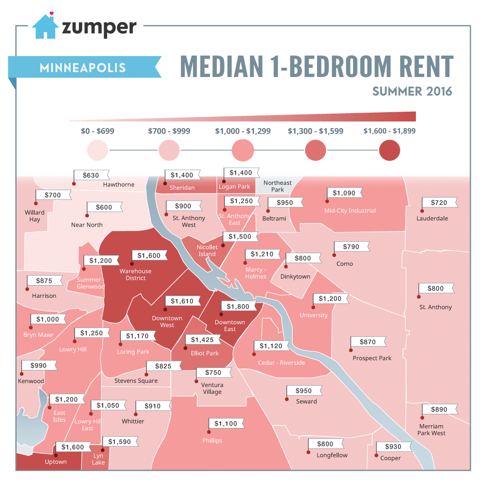 Mapping Minneapolis Rent Prices This Summer (June 2016) on mall of america, bloomington map, hennepin county map, university of minnesota, des moines, monroe map, usa map, cleveland map, milwaukee map, calgary canada map, target center, la crosse map, saint paul, minnesota twins, wisconsin map, mn map, duluth map, minnesota map, st paul map, san antonio, pittsburgh map, san jose map, sioux falls, united states map, twin cities map, seattle map, minneapolis-st. paul, eden prairie map, minnetonka map,