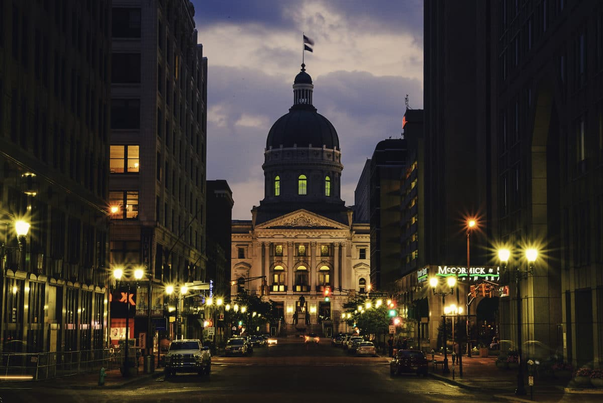 Capitol building in Indianapolis