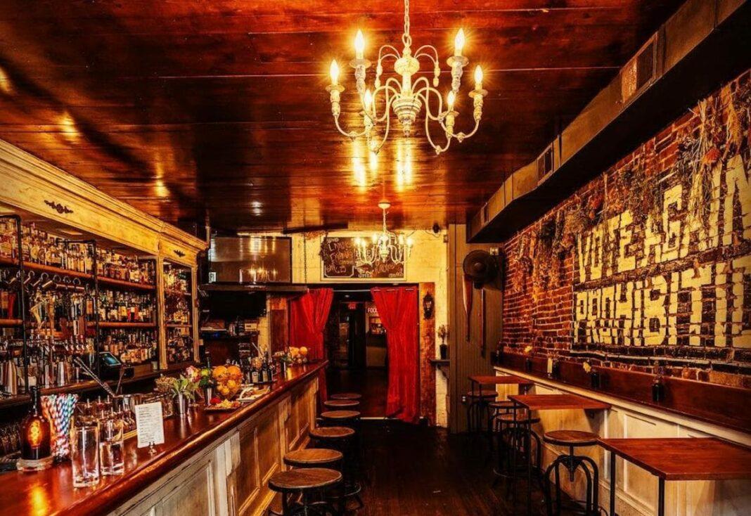 interior of rye speakeasy