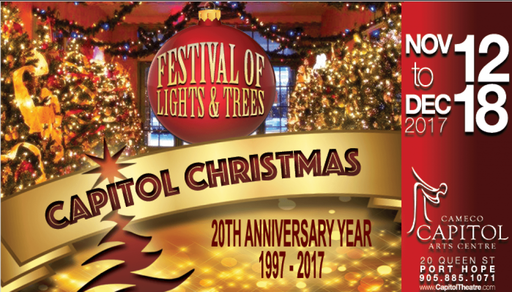 """Celebrating 20 Years! The Capitol Theatre """"Christmas Festival Of Lights And Trees"""" featured image"""