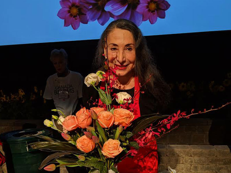 Marilyn Lightstone Competes in the Celebrity Flower Arranging Contest at Canada Blooms featured image