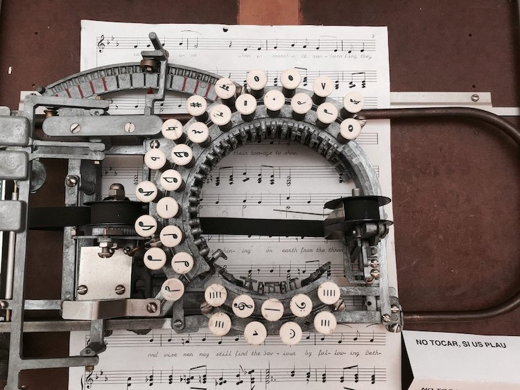 How was music typed out on paper back in the day? featured image