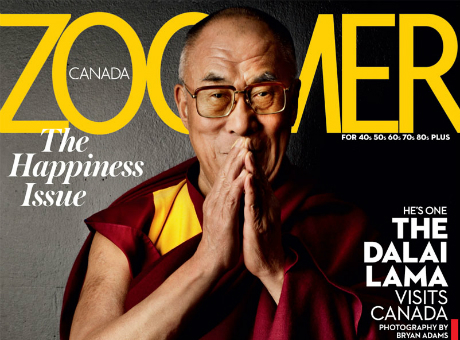 Dali Lama on Zoomer Magazine Cover