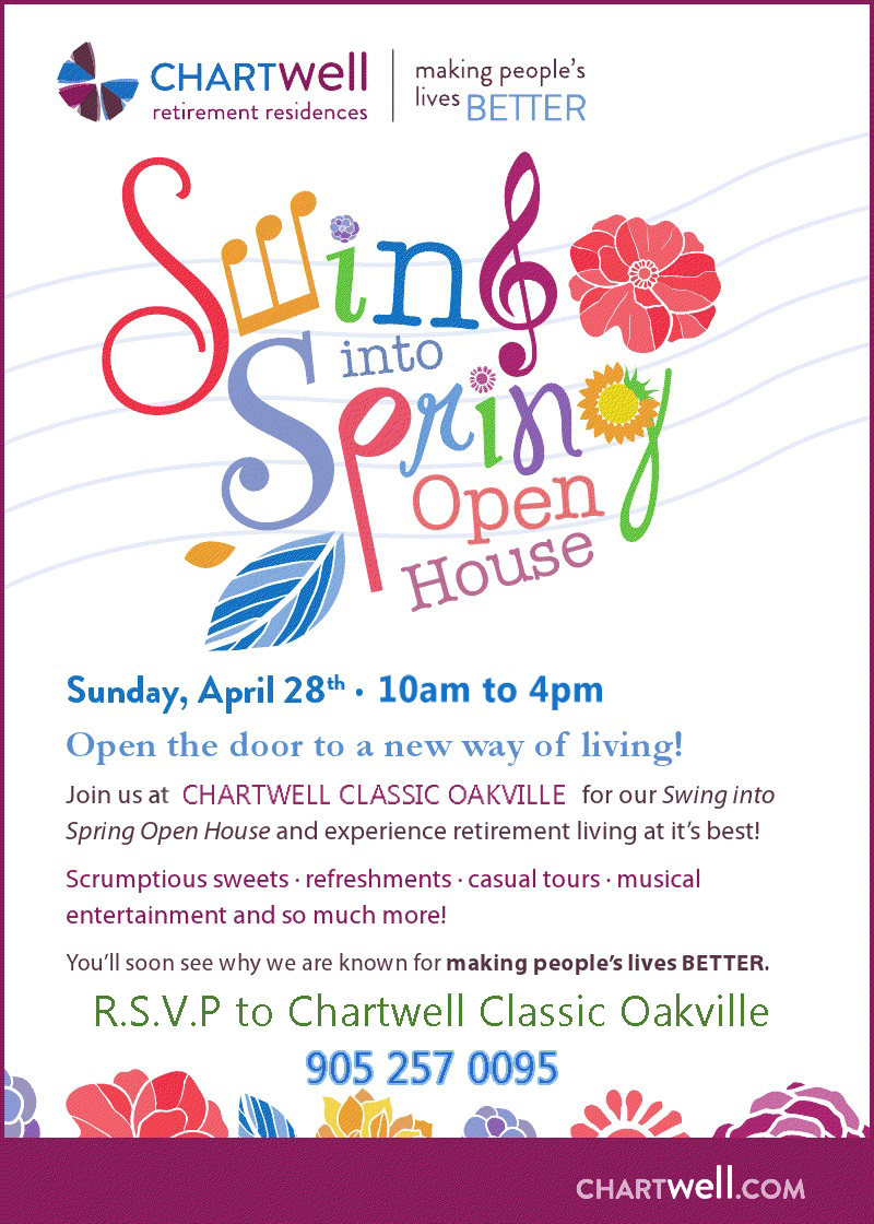 """Spring Open House Sara From Sincerly Sara D: """"Swing Into Spring"""" Open House April 28th At Chartwell"""
