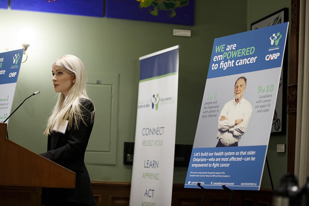 Marissa Lennox speaks at CCSN reception