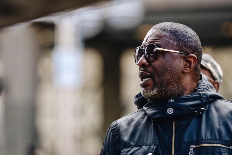 Black senior man wearing sunglasses