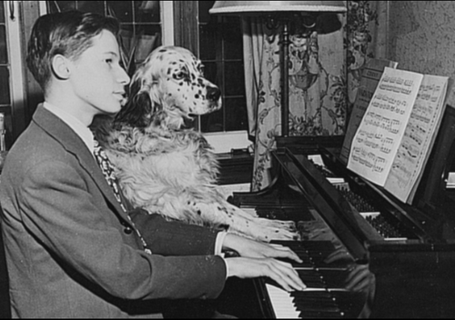 Glenn+Gould+Young++with+dog