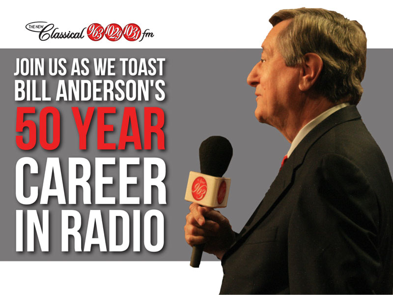 Bill Anderson Celebrates 50 Years in the Radio Business!