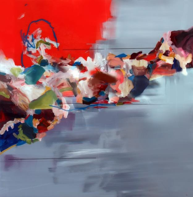 Janna Watson, Filling Voids, mixed media on panel with resin, 2015, live auction