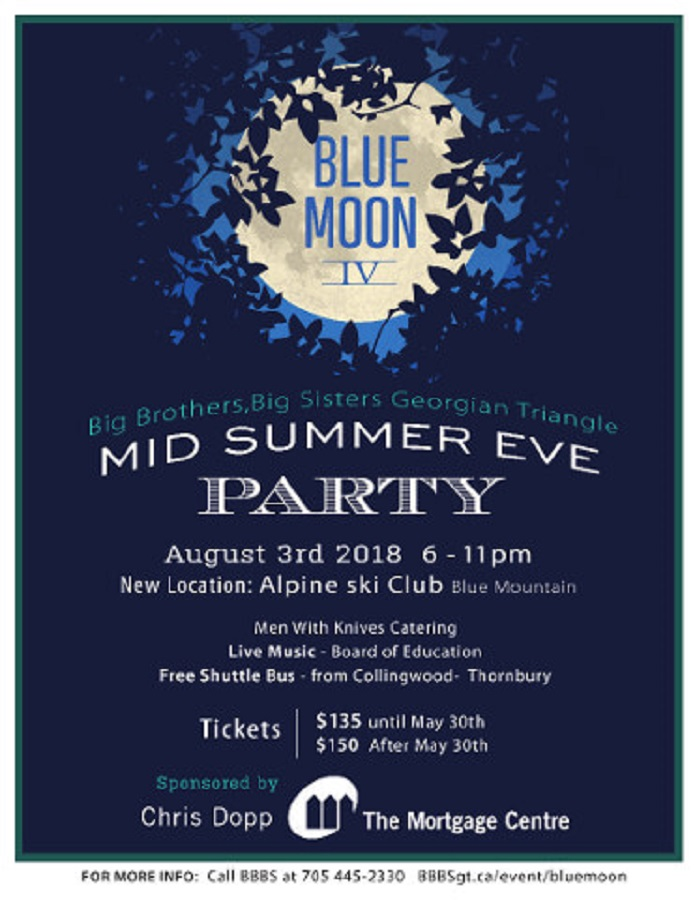 """Big Brothers Big Sisters """"Blue Moon Mid Summer Eve Party"""" Is August 3rd featured image"""