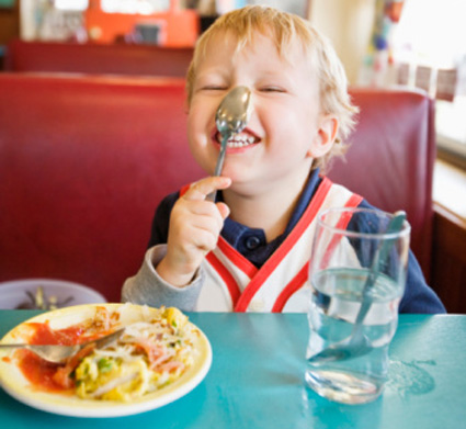 Grandkids eating out
