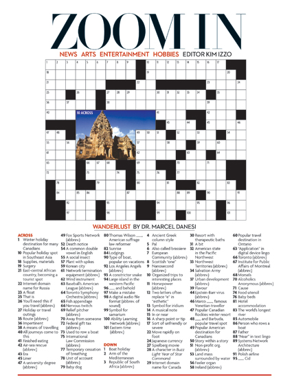 Wanderlust September 2012 Crossword Puzzle Everything Zoomer