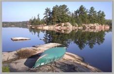 canoe on rock