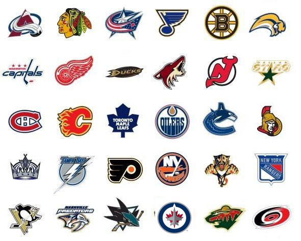 Nhl Team Logos Nhl Team Logos And Names 2013