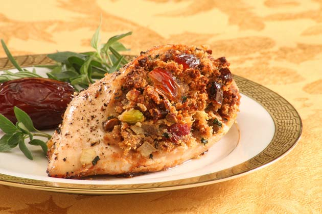 Date-stuffed chicken breast recipe
