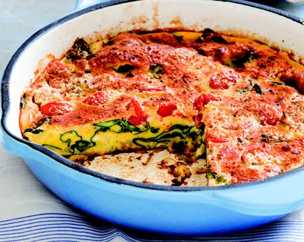 Tomato and Leek Frittata : Go green at breakfast with this frittata ...