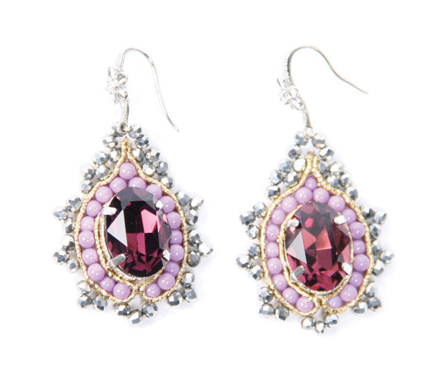 Pink earrings, $95, Fabrice, Toronto