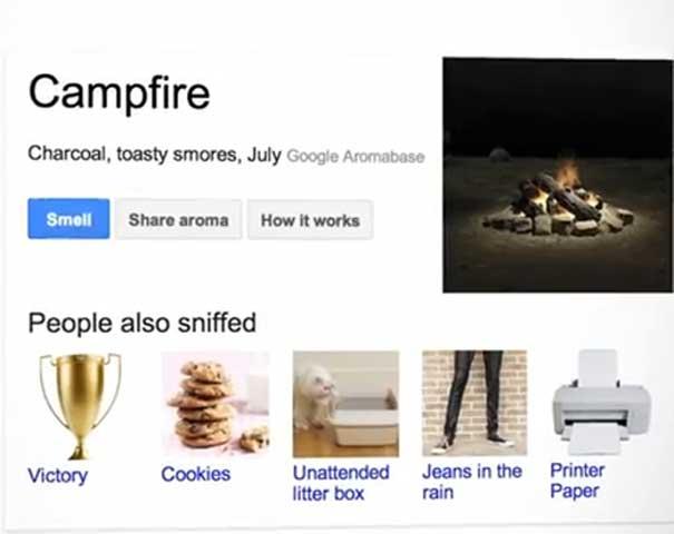 Google's latest April Fool's Parnk, Google Nose