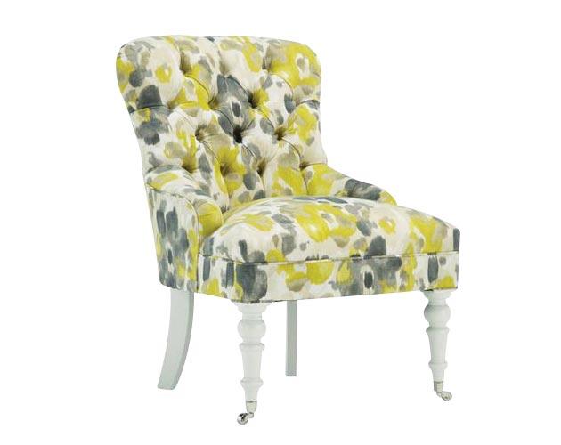 Mitchell Gold + Bob Williams Gloria Chair in Lanai Marigold, $1,305, Elte, Toronto, www.elte.com
