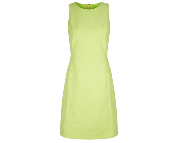 Lime Sleeveless Jacquard Dress $175