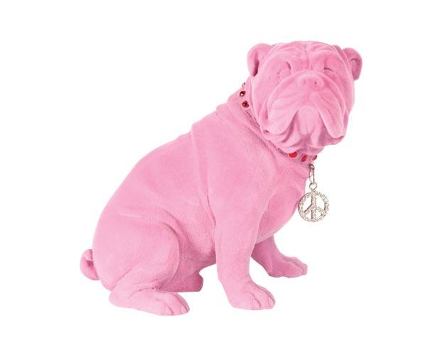 Pink bulldog ornament, $44, Teatro Verde, Toronto, teatroverde.com