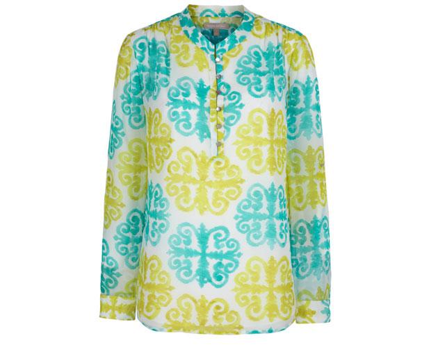 _Pool-BlueLime-Medallion-Printed-Roll-Sleeve-Top-$110