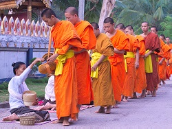 The morning procession of hundreds of monks, Luang Prabang (Jeremy Ferguson)