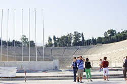 The stadium from the 2004 Olympics