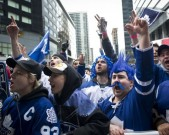 toronto-maple-leaf-fans-cheered-outside-of-